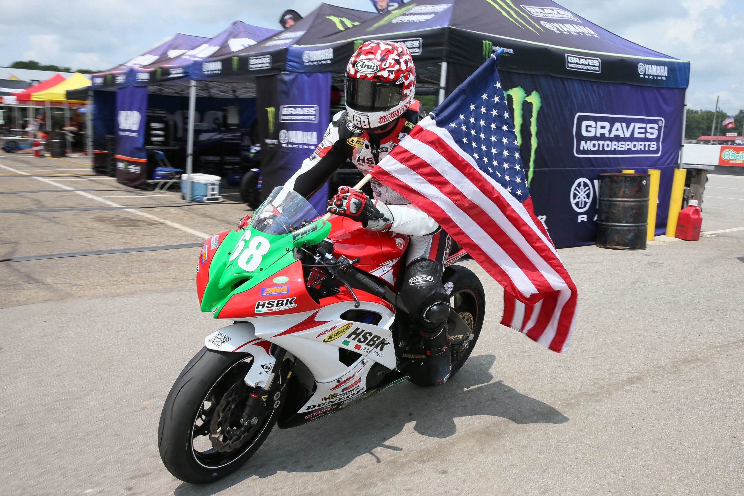 HSBK RACING'S DOMINGUEZ TAKES DOUBLE RACE WINS IN AMA PRO SUPERSPORT AT MID-OHIO