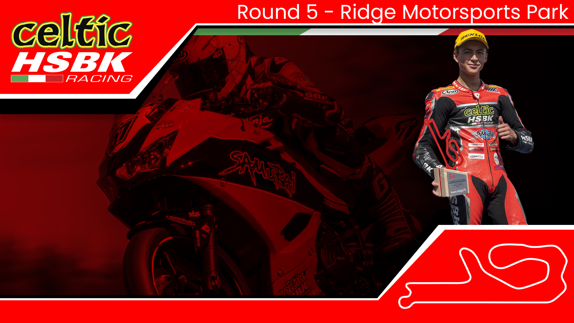 Celtic HSBK Racing Sam Lochoff is ready for the top step at The Ridge (2020 MotoAmerica Round 5)