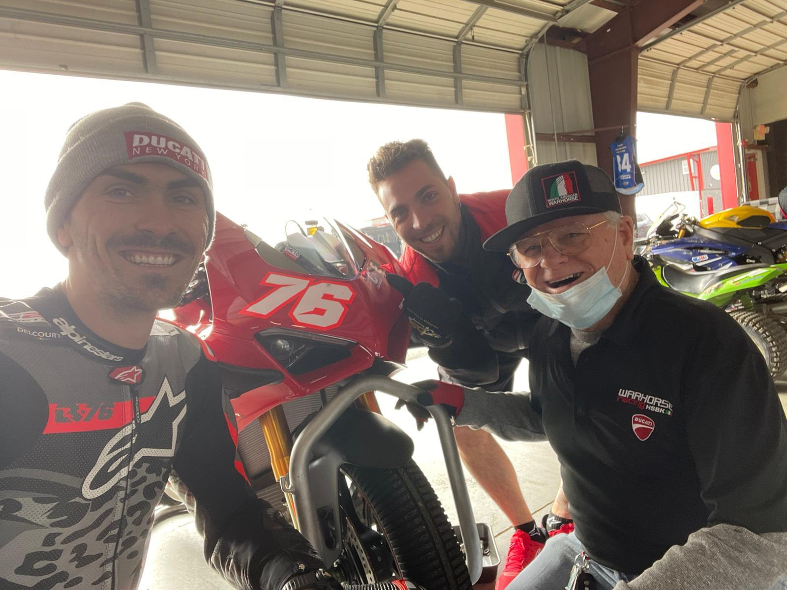 Loris Baz Warhorse HSBK Ducati NJMP Test with Riders Club 2021