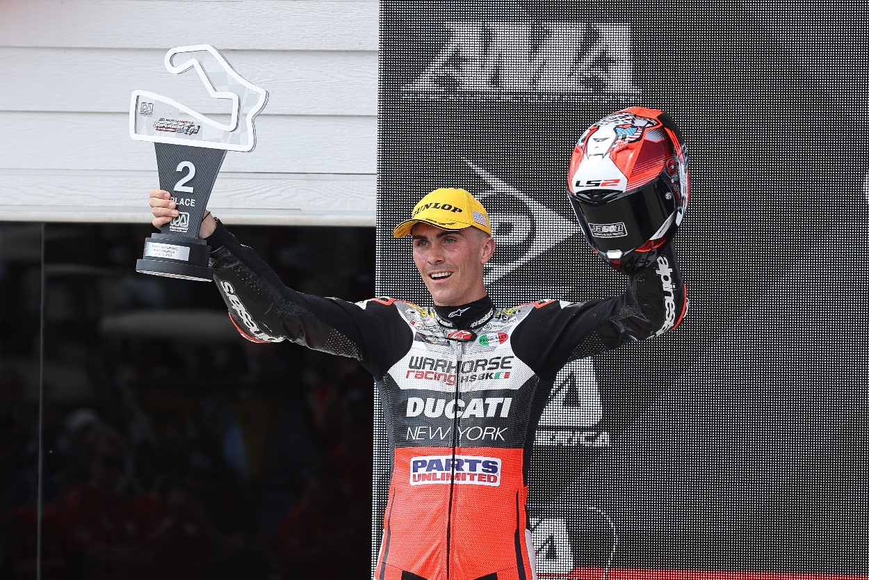 Loris Baz has mixed fortunes during the third round of the MotoAmerica Superbike series at Road America