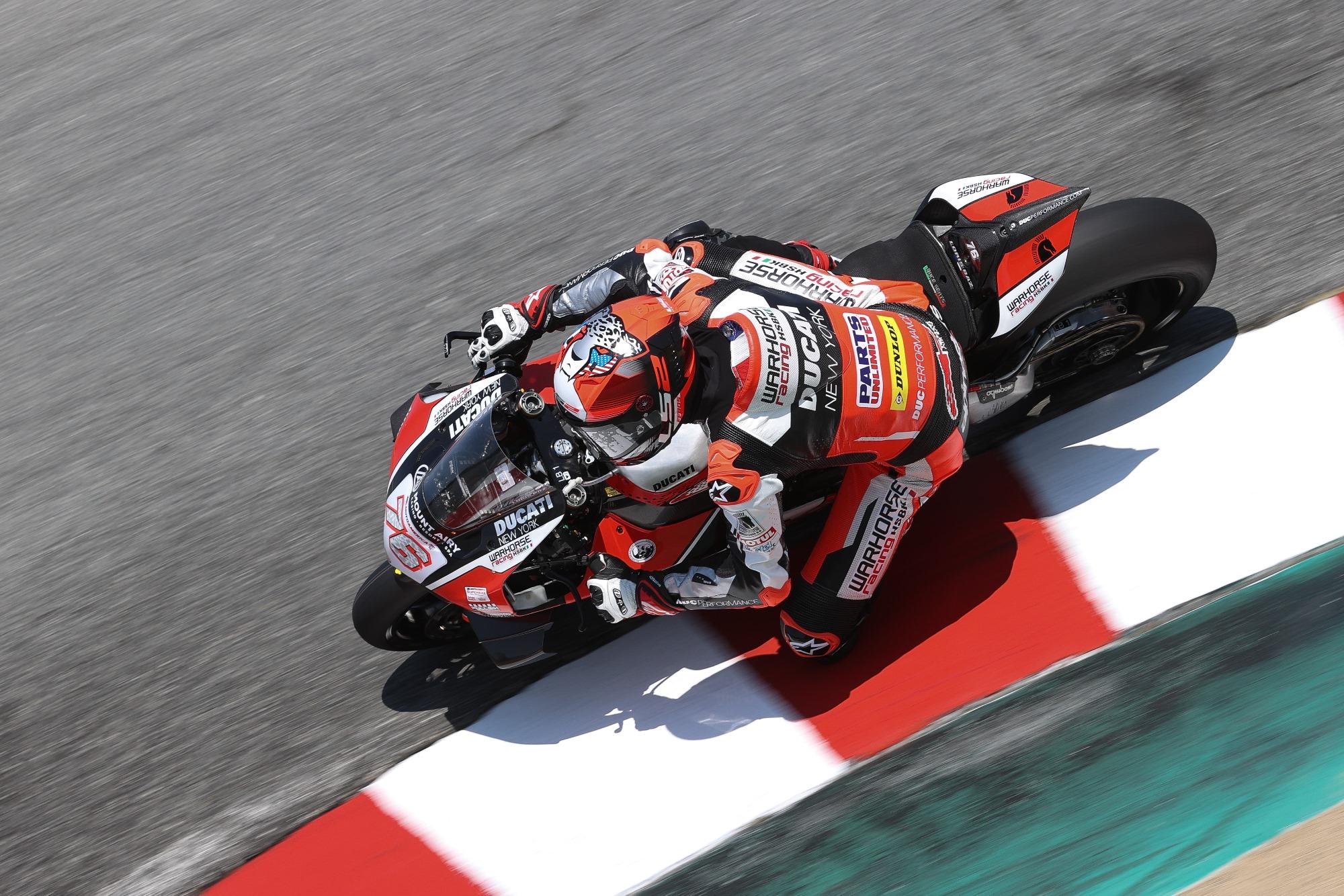 Warhorse HSBK Racing Ducati Team Claims 2-2 Finishes at Laguna Seca Superbike